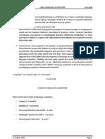 Child Language Acquisition (Semantics)