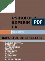 Psihologie Experimentala m.anitei