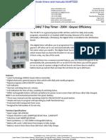 Digital Geyser Timer 24H 7 Day Timer 230V Brochure