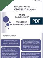 Refleksi Kasus adenotonsilitis kronis