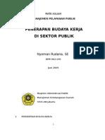 Budaya Kerja Aparatur Pemerintah