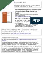 A Study on Mechanical Mechanism of Train Derailment and Preventive Measures for Derailment