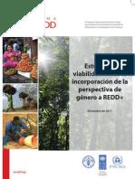 Estudio de viabilidad sobre la incorporación de la perspectiva de género a REDD+