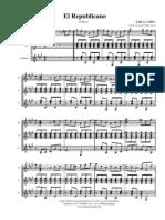Partitura Instrumental Luis a Calvo El Republicano