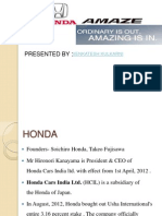 Honda Amaze Marketing Analysis
