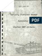 Chieftain Tank Servicing Instruction Booklet FREE