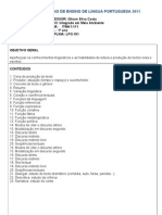 Plano de Ensino de Lingua Portuguesa 2011 (1)