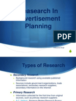 Research In Advertisement Planing