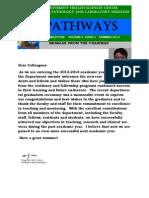 Pathways Newsletter, Summer 2013
