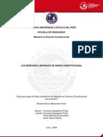 Marcenaro Frers Ricardo Arturo Derechos Laborales Tesis Pucp