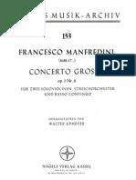 Manfredini Francesco Concerto Grosso Op.3 11. CS