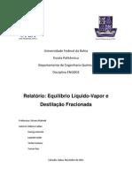 6 - Equilíbrio Líquido-Vapor e Destilação Fracionada
