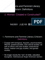 1. Feminisms and Feminist Literary Criticism Definitions