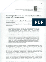 Assesing intettion and impulsivity in children during the Go/No Go task