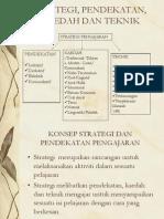 Strategi, Pendekatan, Kaedah Dan Teknik