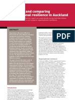 Measuring and Comparing Organisational Resilience in Auckland