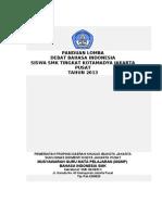 Juknis Debat Bahasa Indonesia 2013