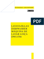 myčka Zanussi dws 4704