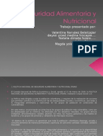 Seguridad Aliment Aria y Nutricional