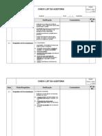 Check-List - Auditoria Qualidade, Meio Ambiente e Seguran-A (1)