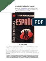 1938 La Contrarevolución en España. Louzon