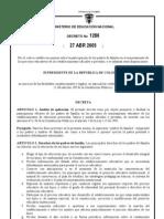 decreto 1286 de 2005