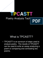 TPCASTT Poetry Analysis Technique