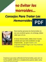 Como Evitar Las Hemorroides - Consejos Para Tratar Las Hemorroides