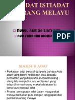 Adat Istiadat Orang Melayu
