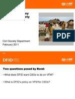 Dfid Jo Abbot - VfM and Civil Society