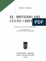 Casel Odo - El Misterio Del Culto Cristiano