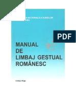 Manual de Limbaj Gestual