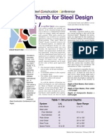 Rules of Thumb Feb2000-Steel Members