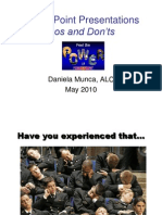 PowerPoint Do and Donts