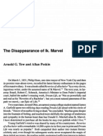 The Disappearance of Ik. Marvel
