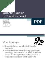 Fall 2010 Group 8 Marketing Myopia