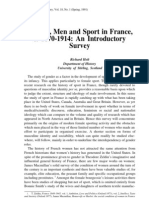 Women, Men and Sport in France,