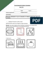 EVALUACIÓN NIVEL FONETICO-FONOLOGICO (2)