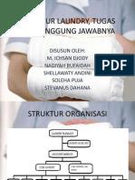 Struktur Laundry, Tugas Dan Tanggung Jawabnya