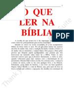 05 - O QUE LER NA BÍBLIA