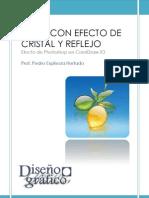 Fruta efecto de cristal