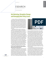 Net Metering, Disruptive Change and Emerging Rate Policy Issues