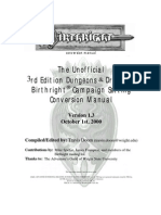 3E Birthright - Unofficial Conversion Book