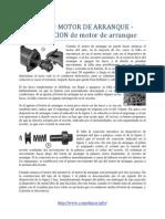 Reparar MOTOR DE ARRANQUE - REPARACION de motor de arranque