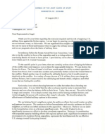 Letter for Rep Engel 19 Aug 13 from Chairman of the Joint Chiefs of Staff Gen. Dempsey