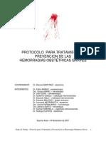 Protocolo para Tratamiento y Prevención de la Hemorragia Obstétrica Grave