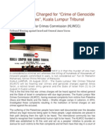 """State of Israel Charged for """"Crime of Genocide and War Crimes"""", Kuala Lumpur Tribunal"""