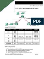 Enrutamiento Lab 2.8.2 Configuracion Ruta Estatica