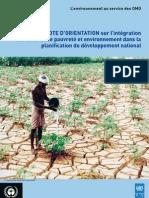 Note d'orientation sur l'intégration des liens entre pauvreté et environnement dans la planification du développement national