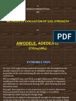 Methods of Soil strength Determination